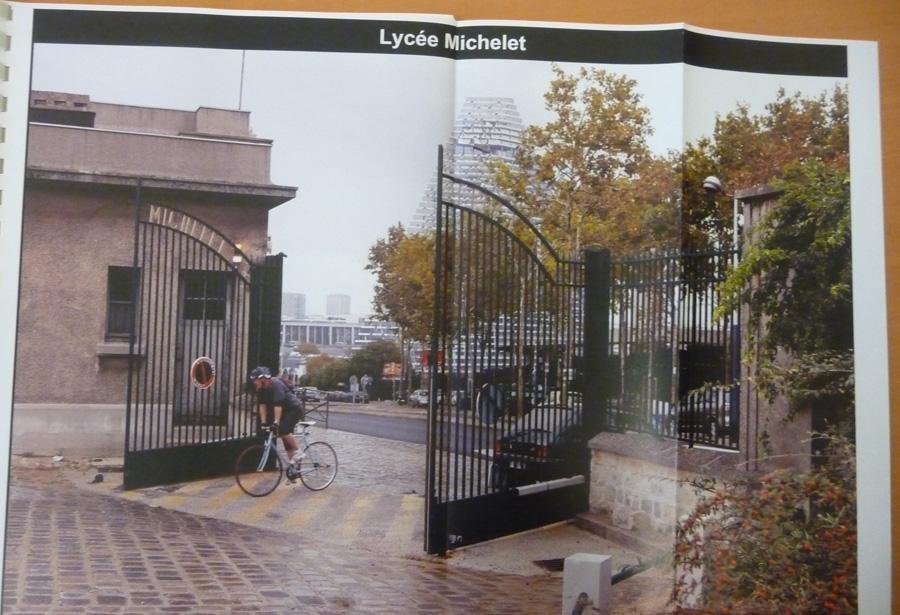 Tour Triangle vue depuis Vanves - Lycée Michelet