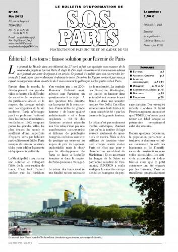 Journal SOS Paris