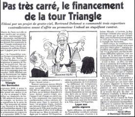 Canard enchainé : Pas très carré le financement de la Tour Triangle