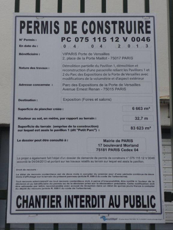 Tour Triangle - VIPARIS (Unibail et CCIP) démolit le Hall 1 Parc des Expositions Porte de Versaille