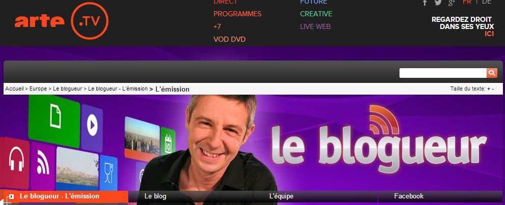 arte TV - Le blogueur - tours à Paris