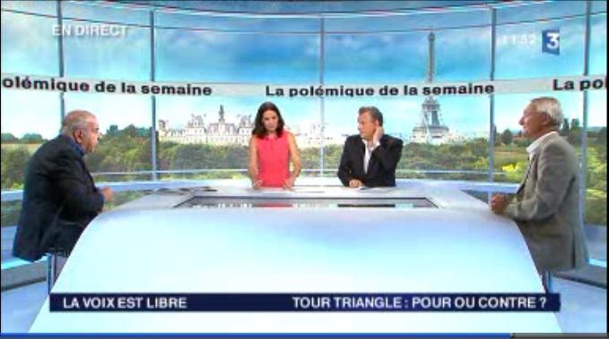la voix est libre - France 3 - Tour Triangle pour ou contre