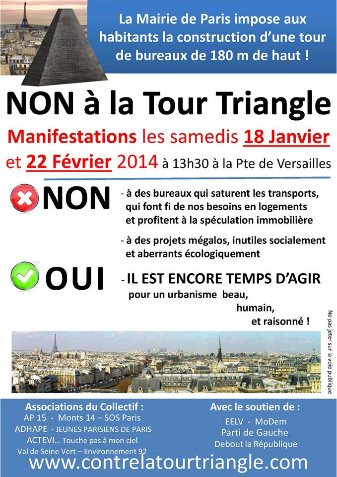 Manifestation contre tour Triangle 1