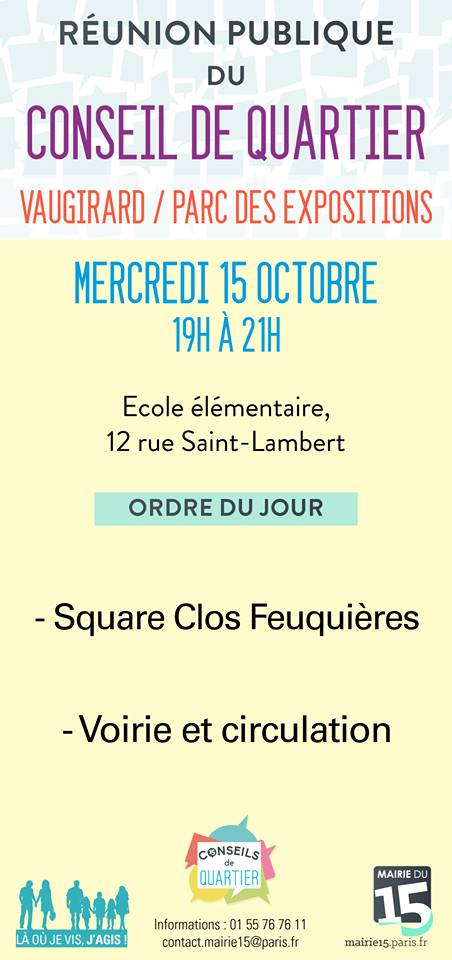 Conseil de Quartier saint Lambert Paris