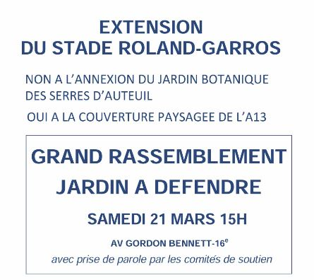 extention stade Roland Garros