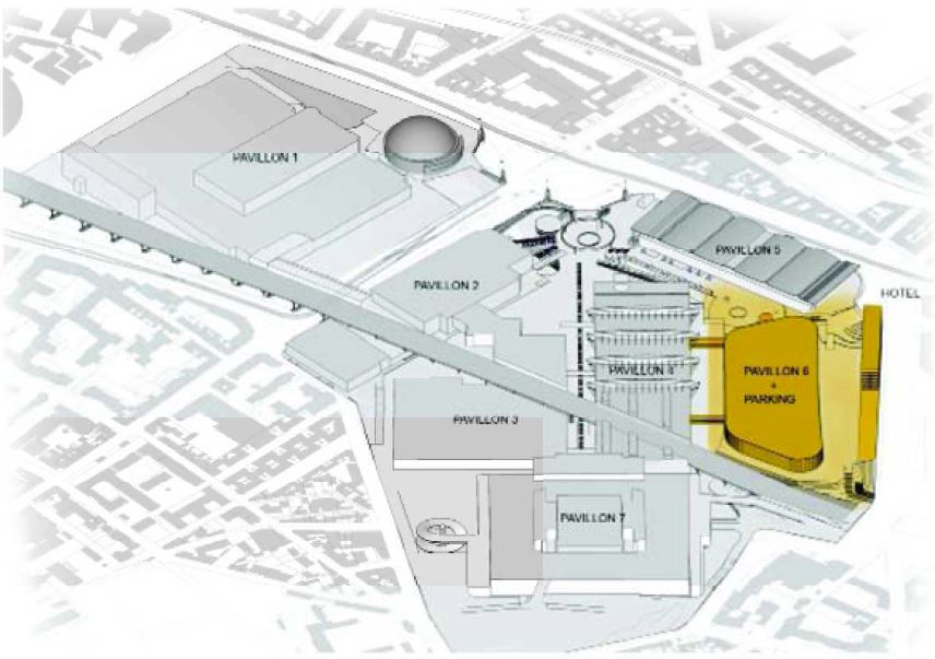travaux modernisation parc expositions pavillon 6