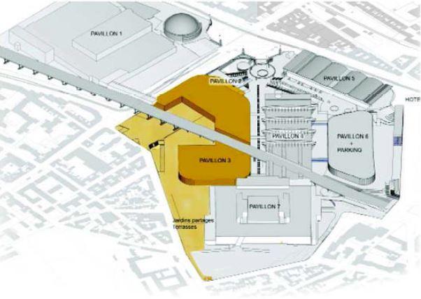 travaux modernisation parc expositions pavillons 2 et 3