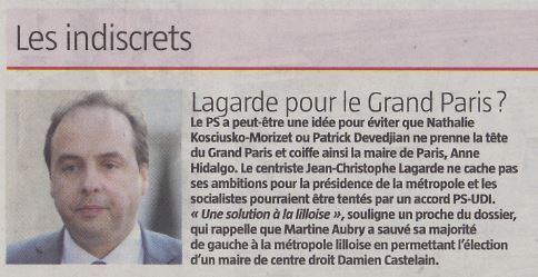 JDD 21 juin - JC Lagarde - Grand Paris- UDI