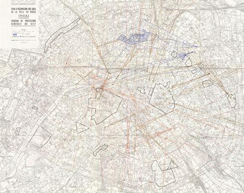 plan des fuseaux - Paris