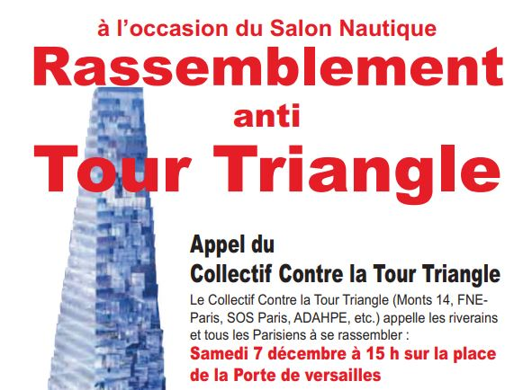 manifestation contre la tour Triangle