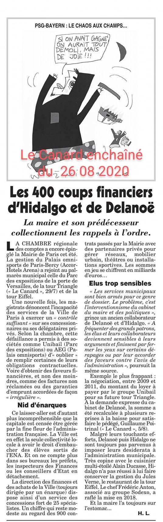 Les 400 coups financiers d'Hidalgo et de Delanoë - Unibail - URW