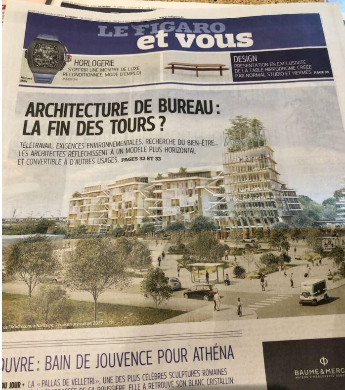 architecture de bureau - la fin des tours - le Figaro