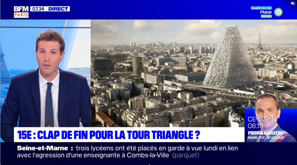 BFM TV - clap de fin tour Triangle