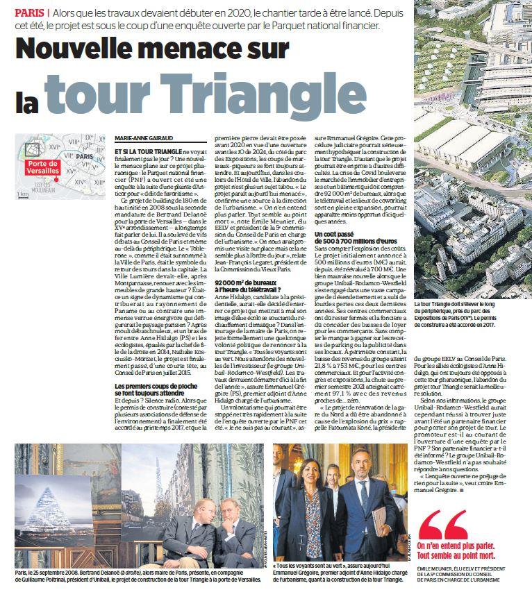 Le Parisien du Lundi 11 Octobre 2021 - page 1